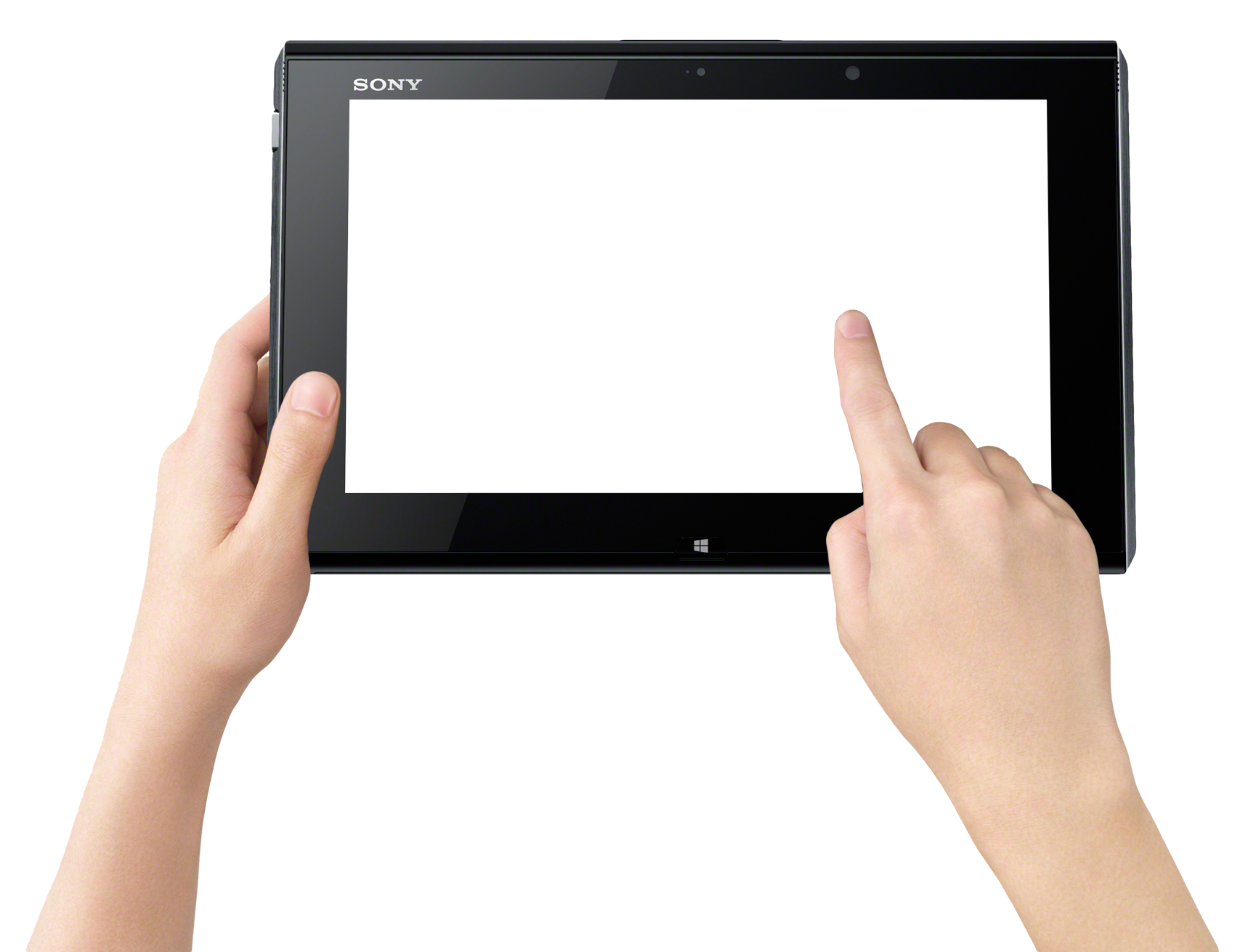 Finger Touch Tablet PNG Image