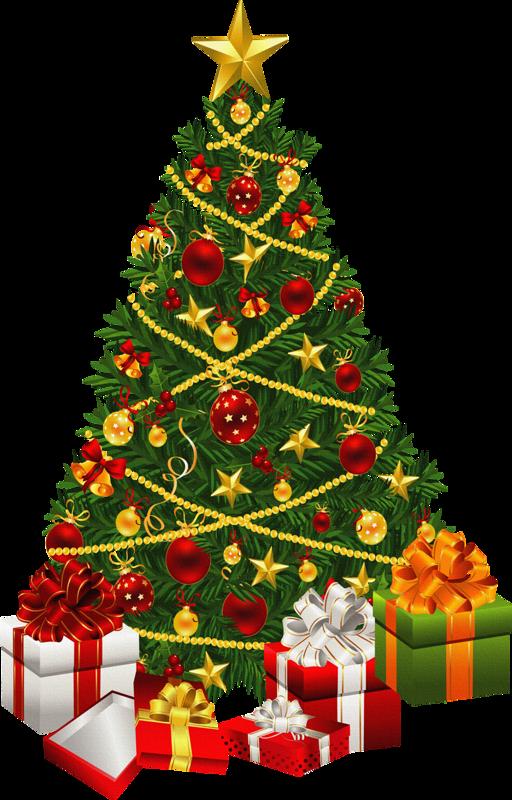 Presents Christmas Tree PNG Image