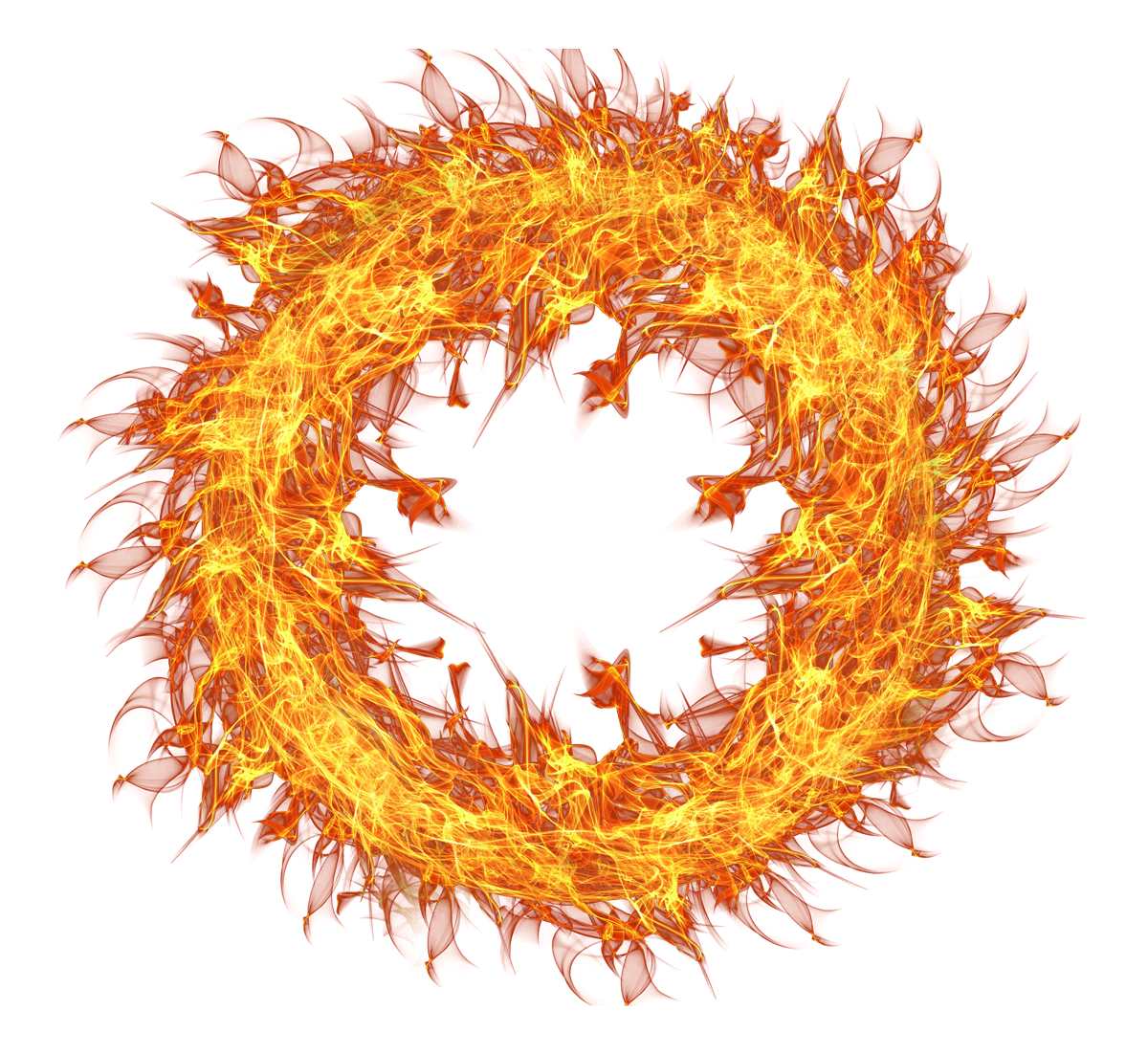Flaming Fire Circle PNG Image