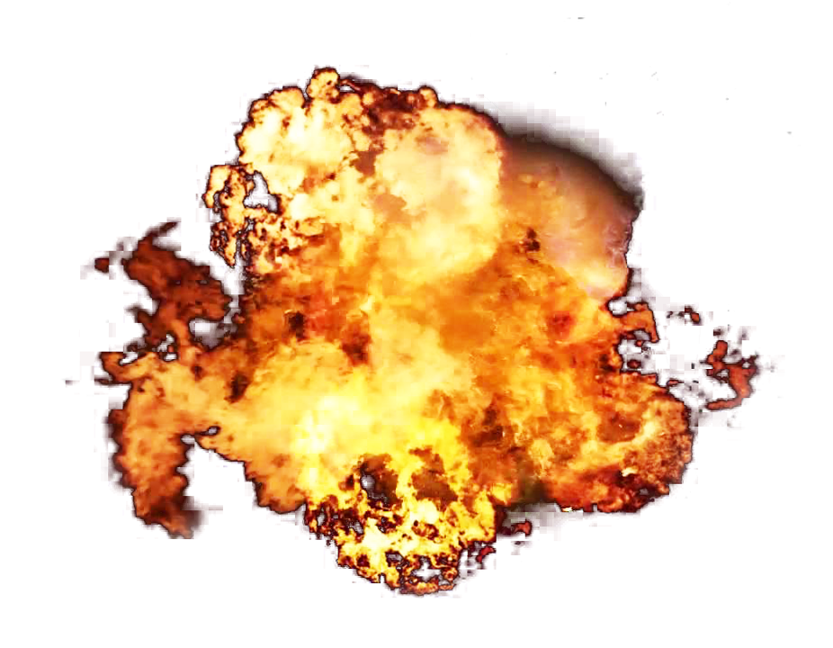 Big Fire Flame Explosion PNG Image
