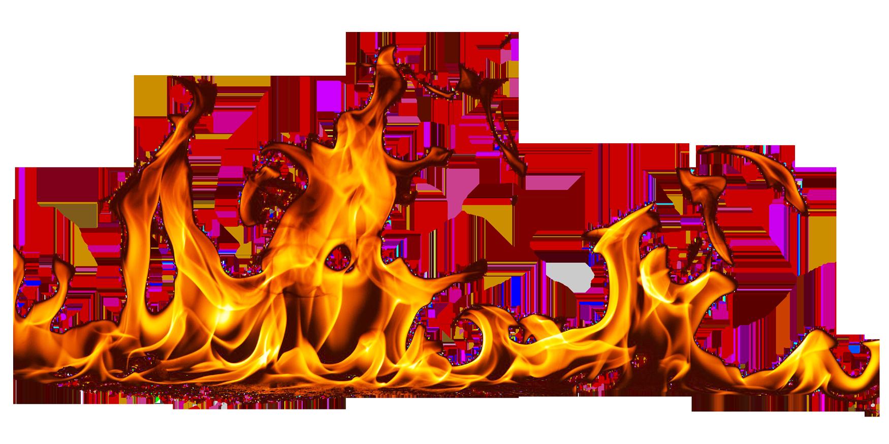 Flame Burning Ground PNG Image