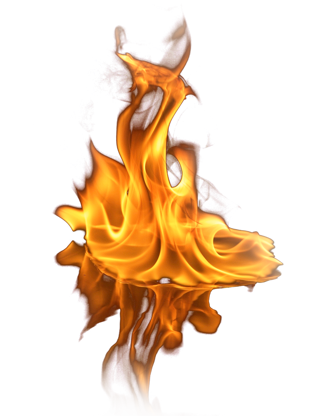 Fire on Ground PNG Image