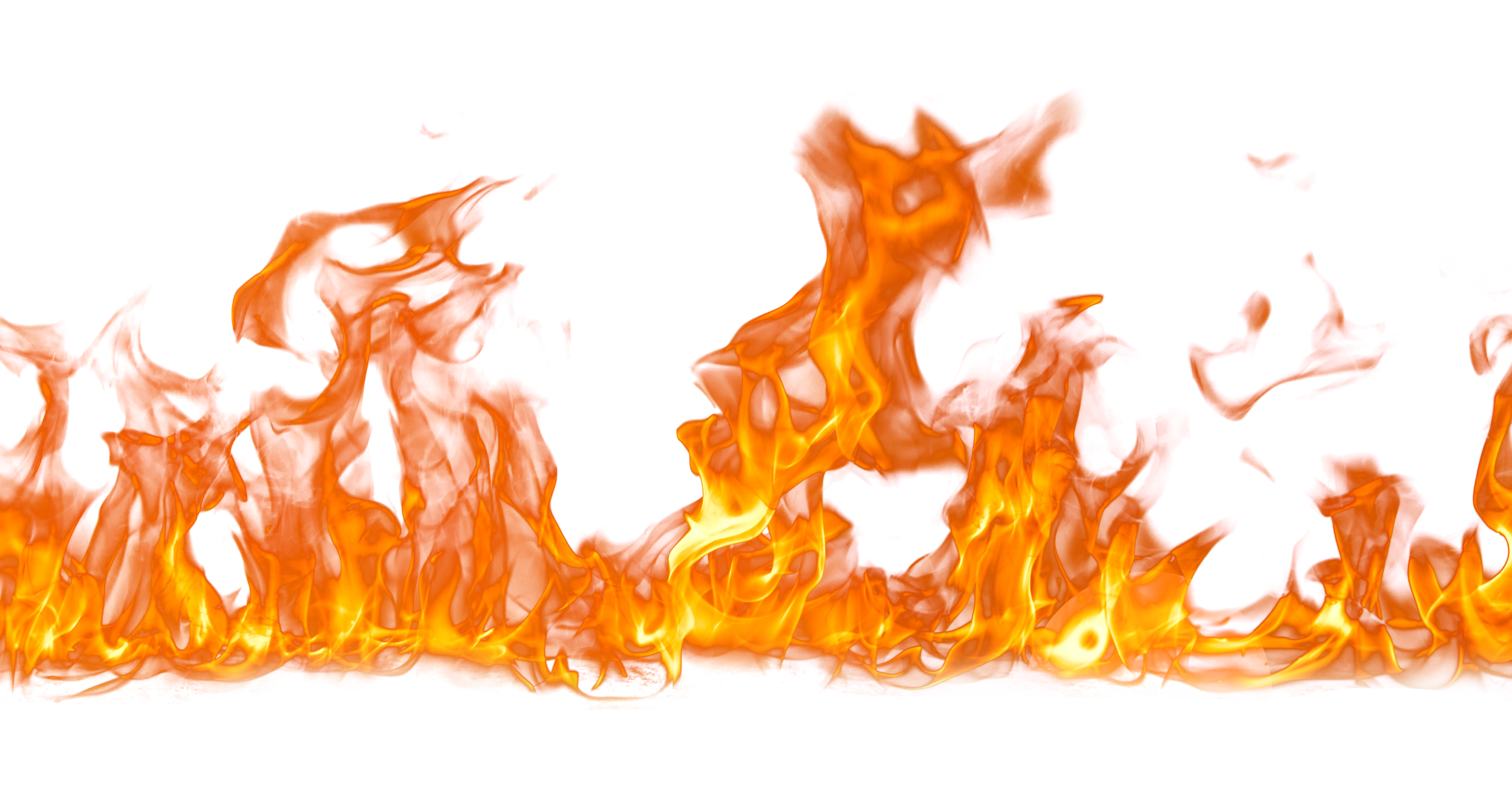 Fire Flame on Ground PNG Image