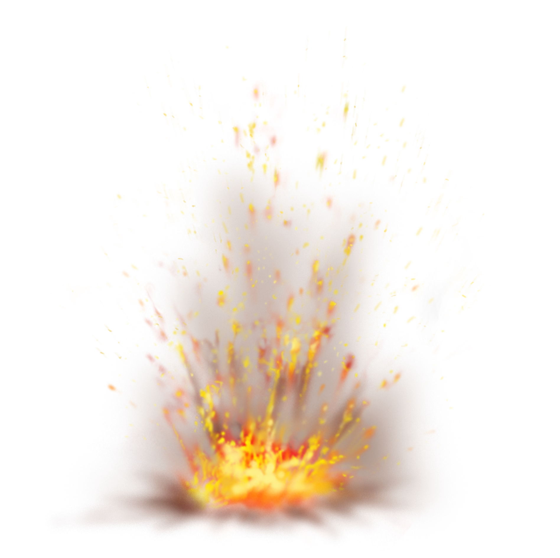Fire Flame Sparkling Ground Explosion PNG Image
