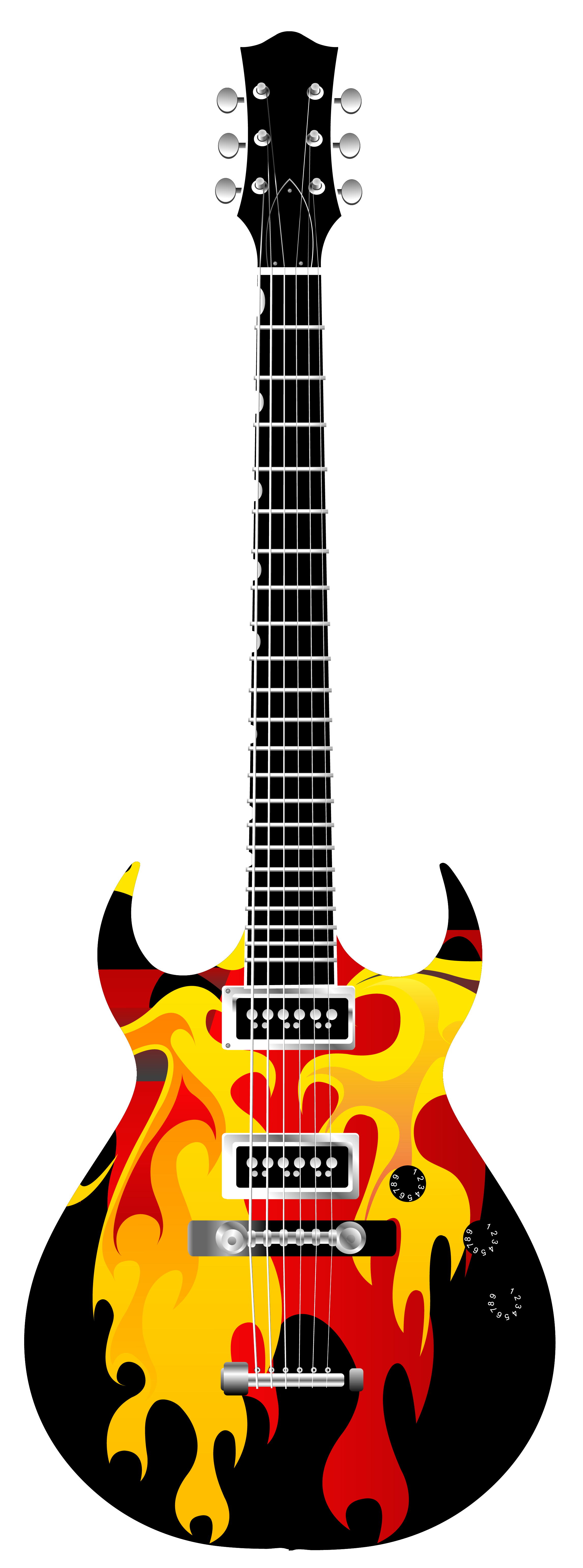 Flame Electric Guitar