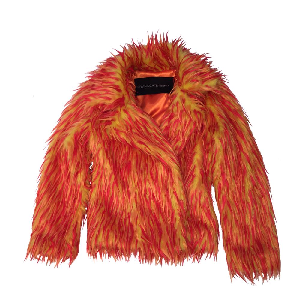 Flame Fur Coat PNG Image