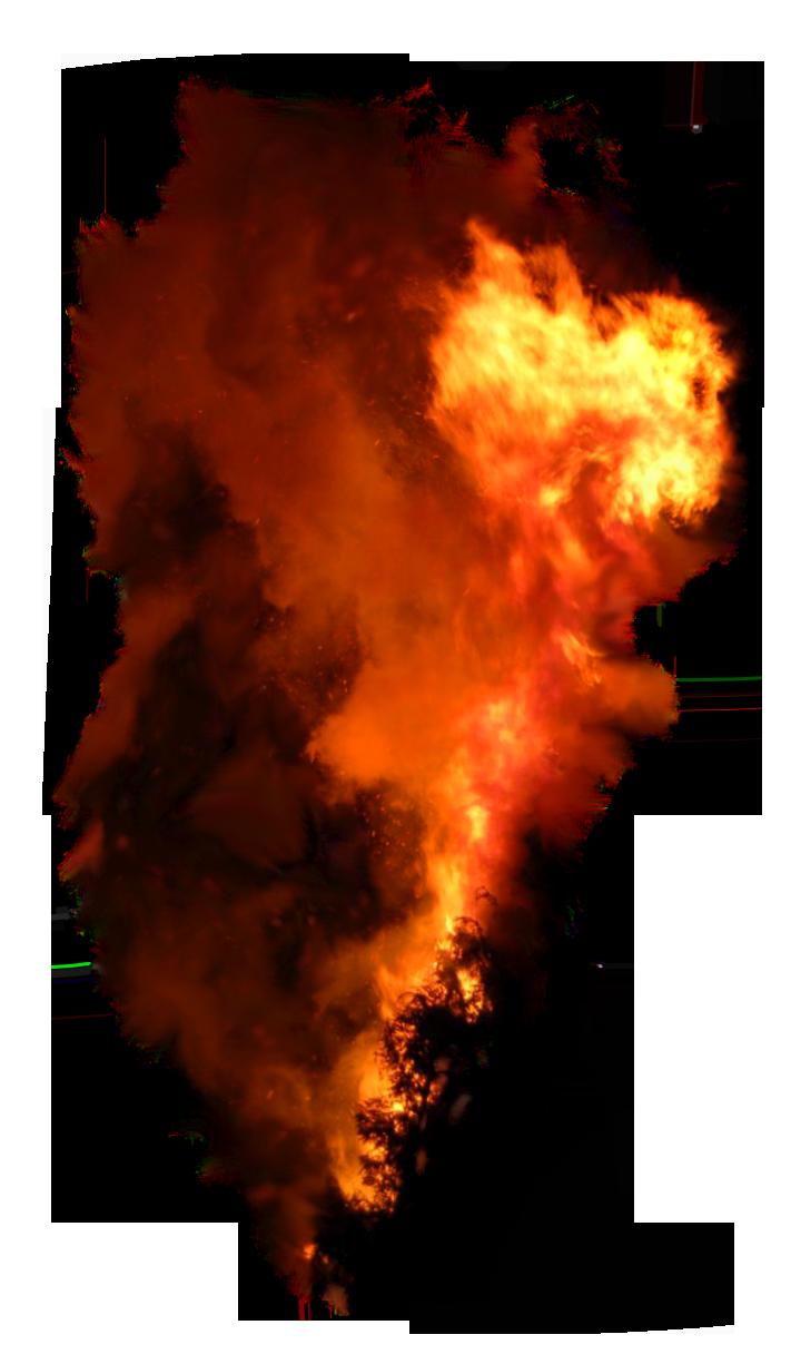 Burning Flame with Smoke PNG Image