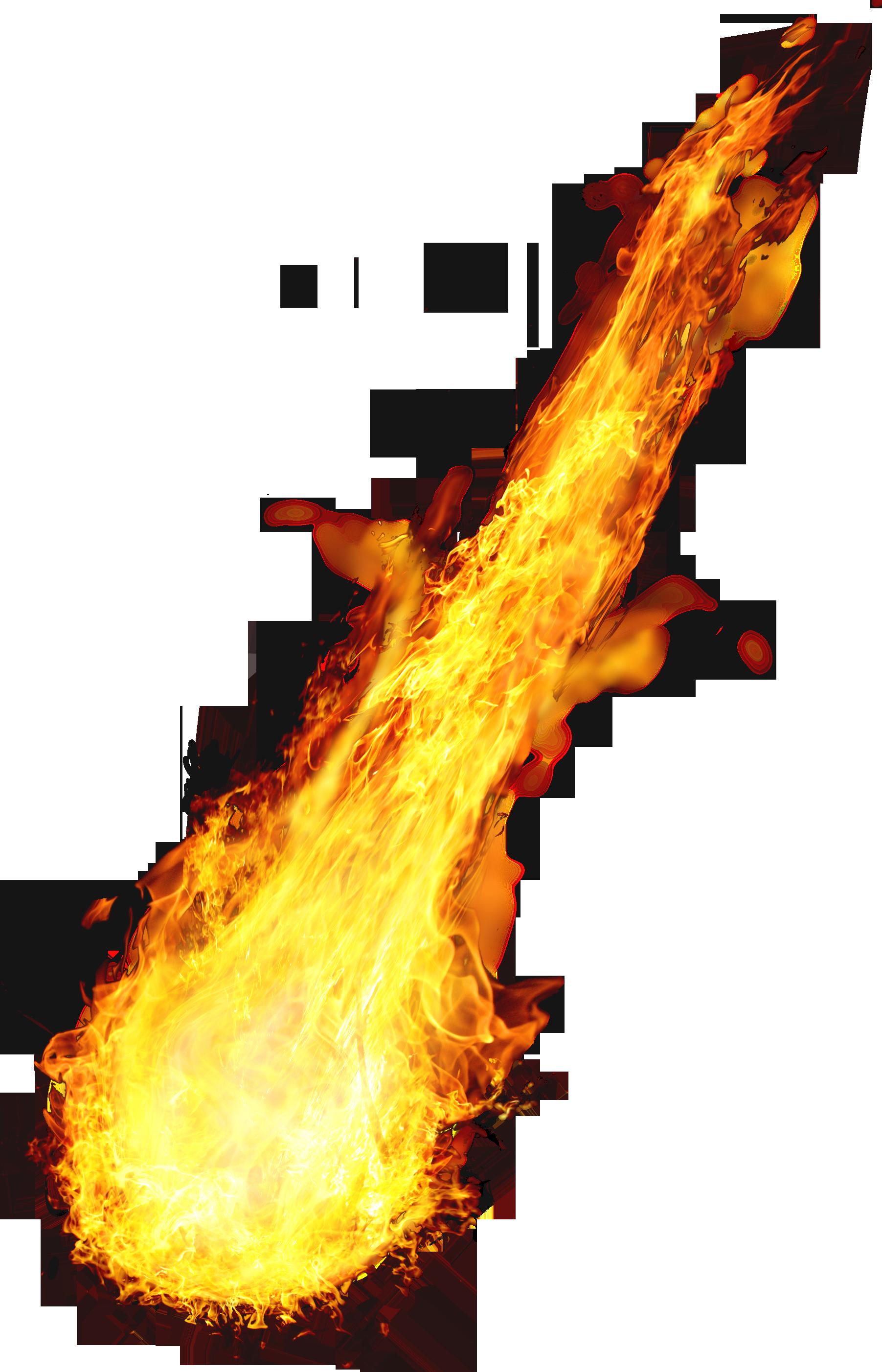Fireball Coming Down PNG Image