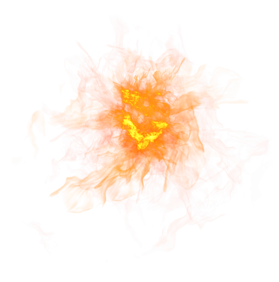 Sparkling Fire Flame PNG Image