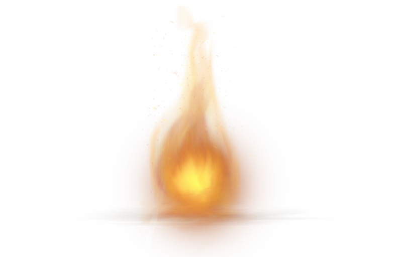 Single Little Fire Flame PNG Image