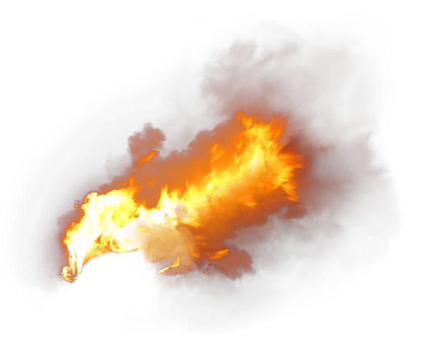 Flame Fire with Smoke PNG Image
