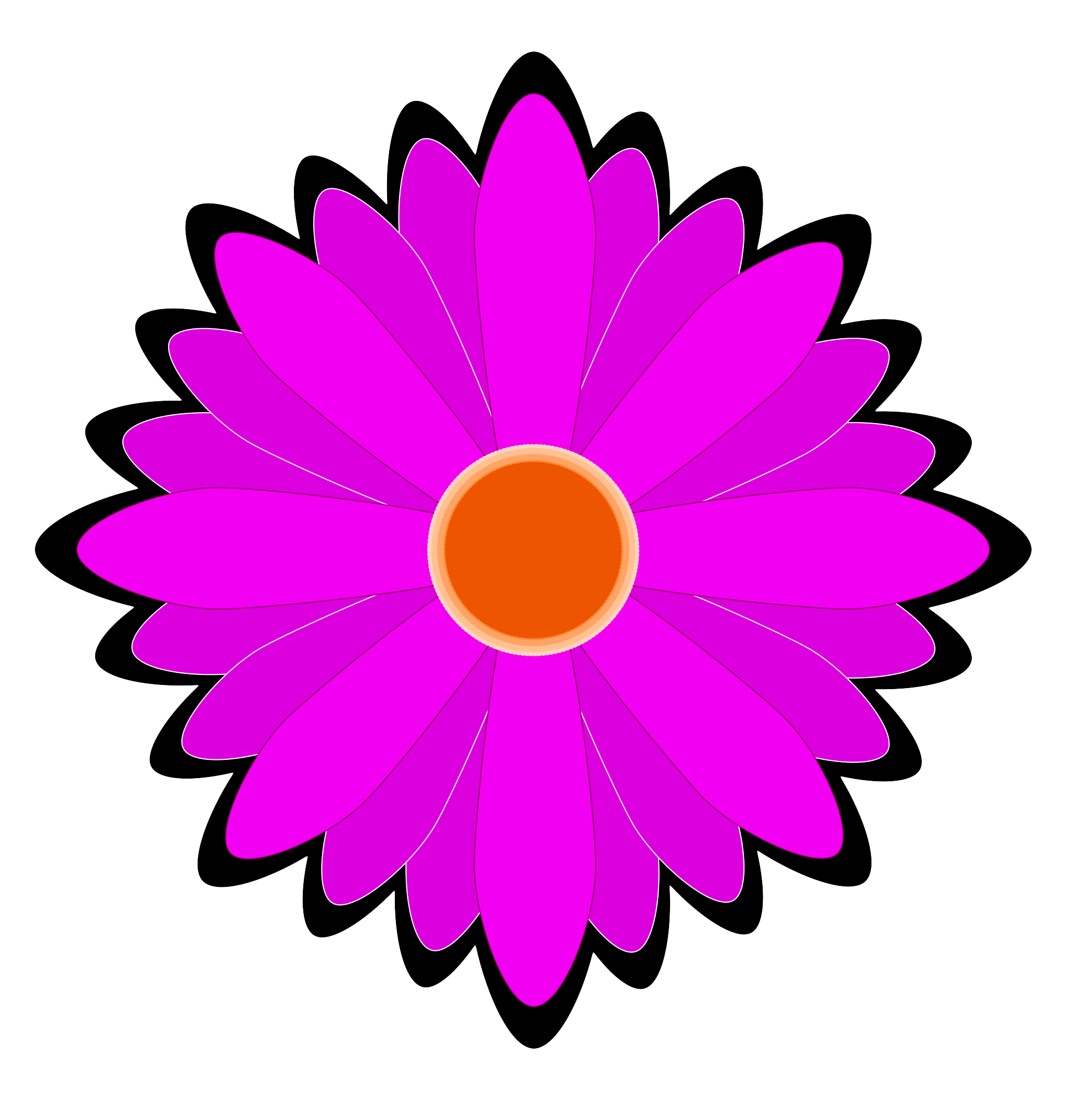 Flower Vector PNG Image