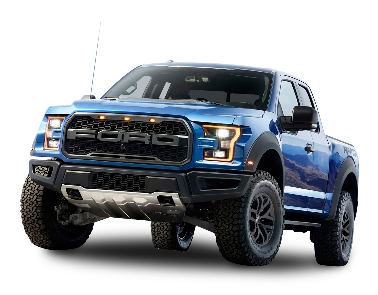 Ford F 150 Raptor Blue Car