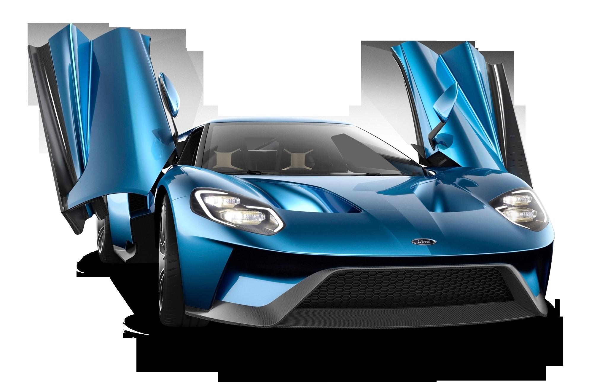 Ford Gt Blue Car