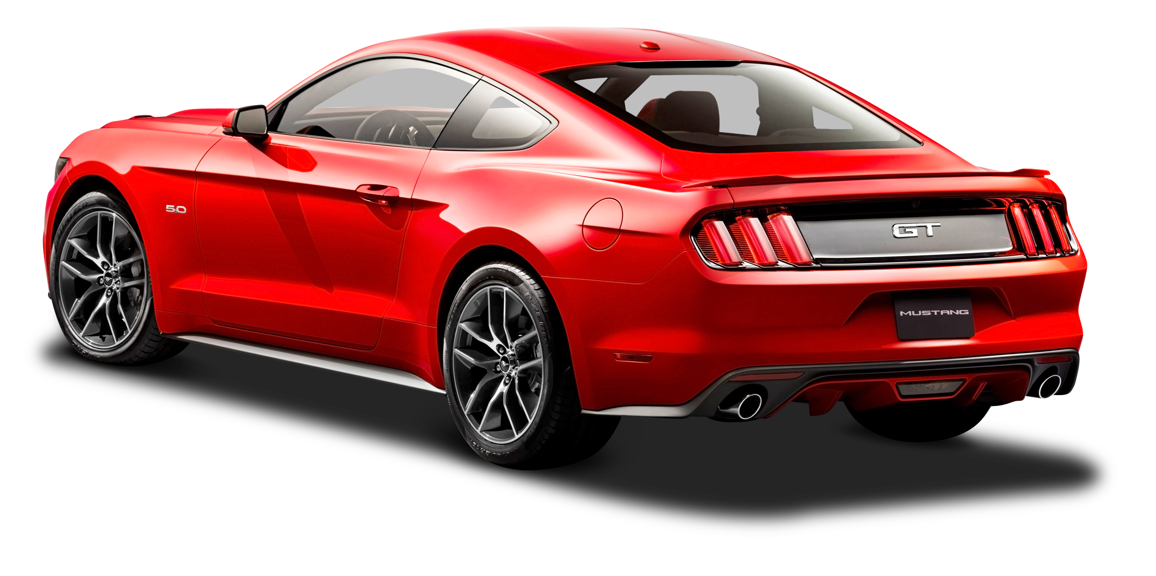 Ford Mustang Red Car Back Side