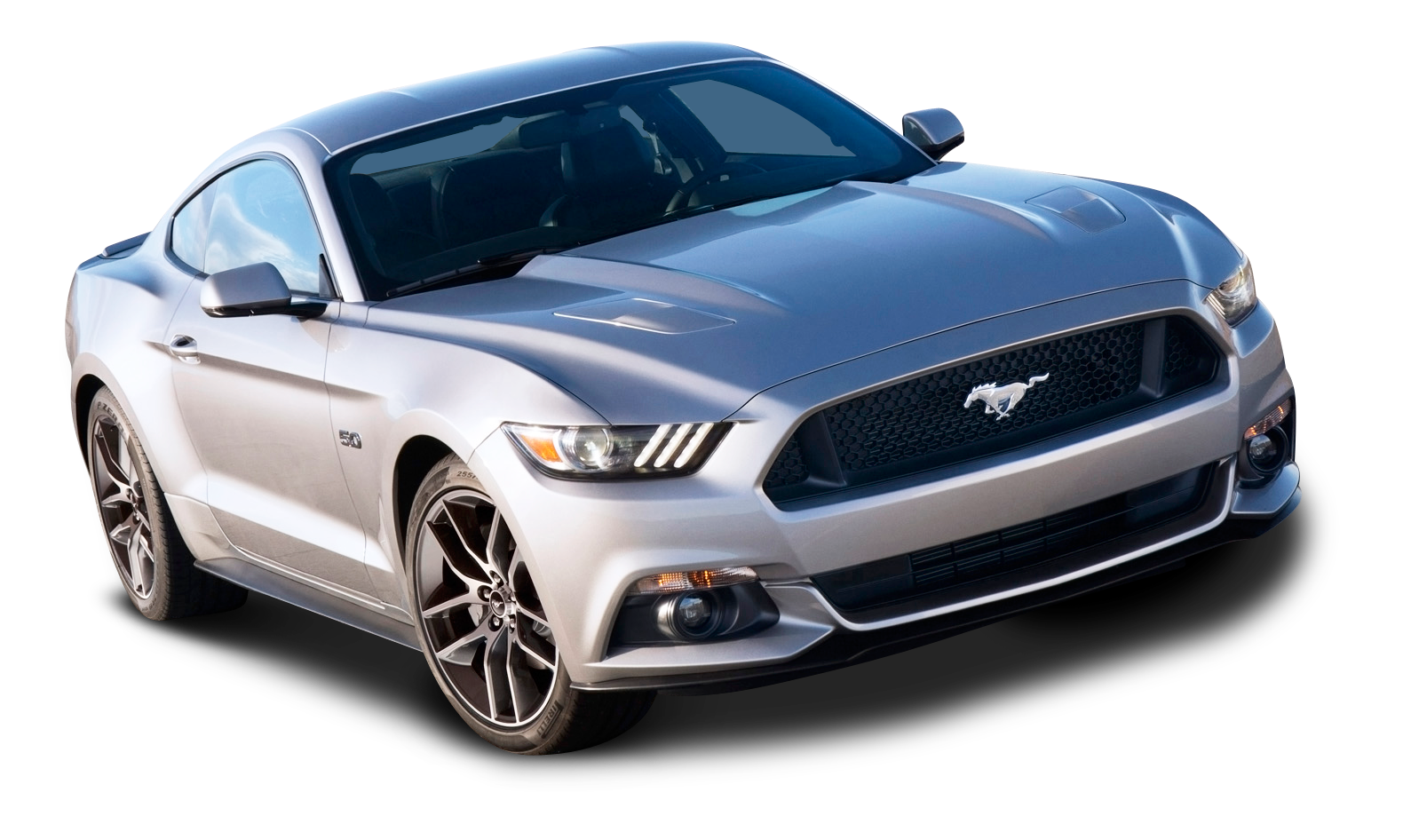 Ford Mustang Silver Car PNG Image