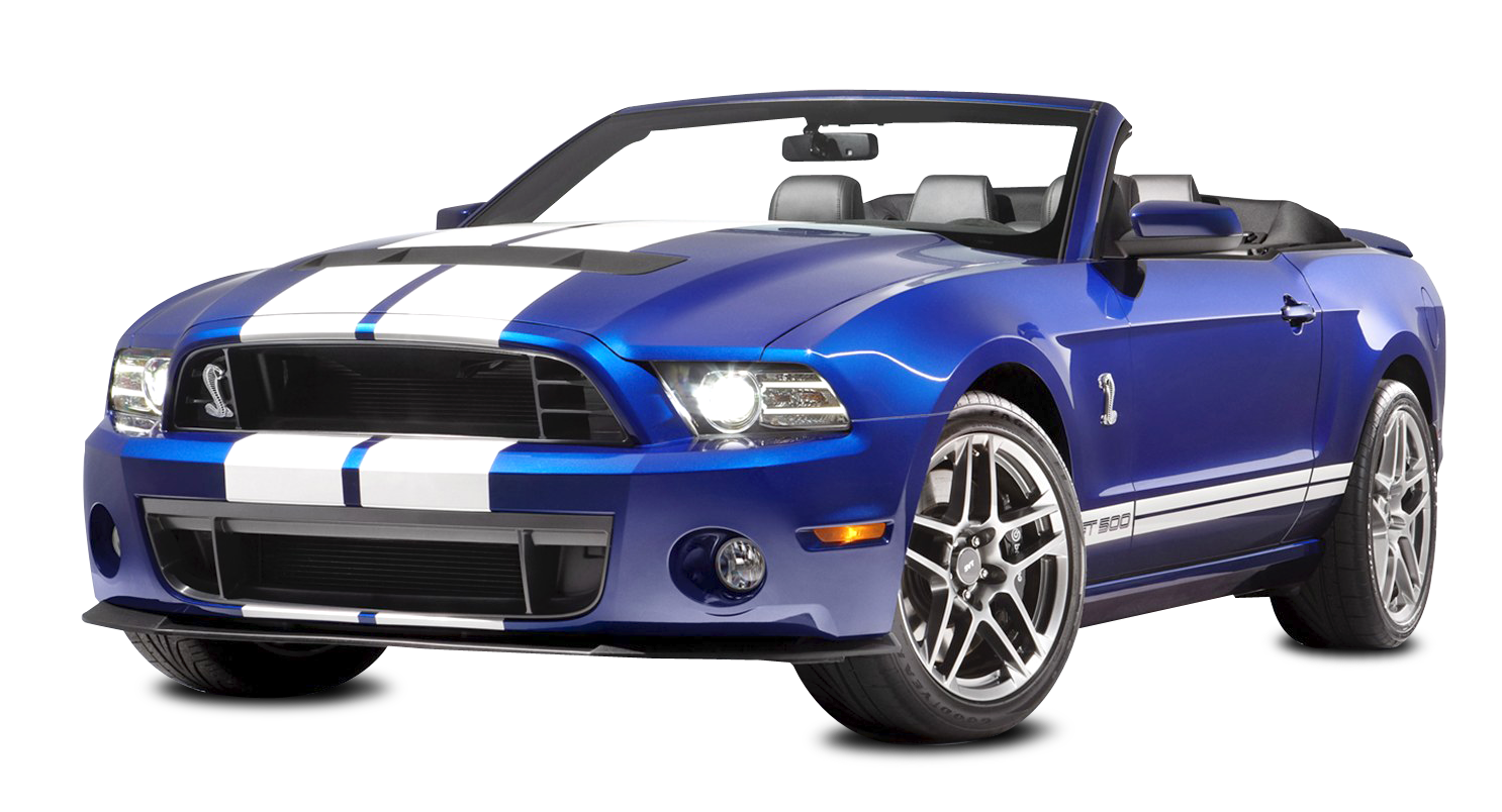 Ford Shelby Mustang GT500 Convertible Car PNG Image