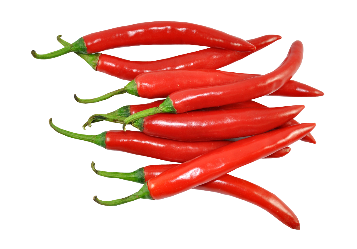 Fresh Red Chillies PNG Image