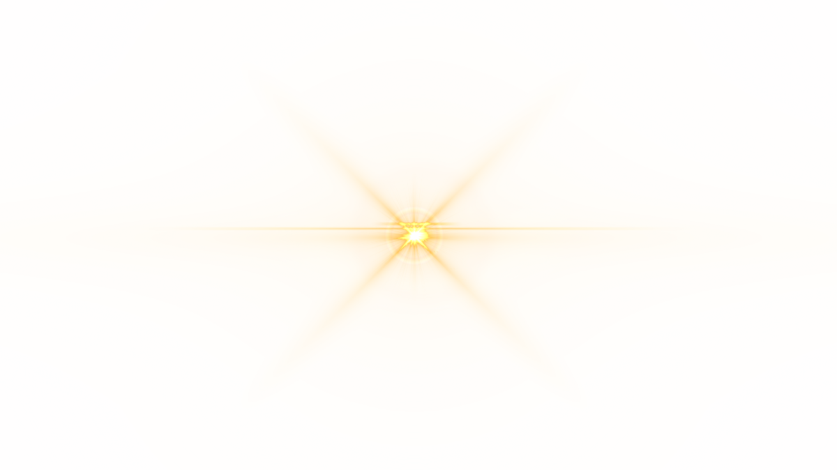 Lens flare yellow color. Front png image purepng