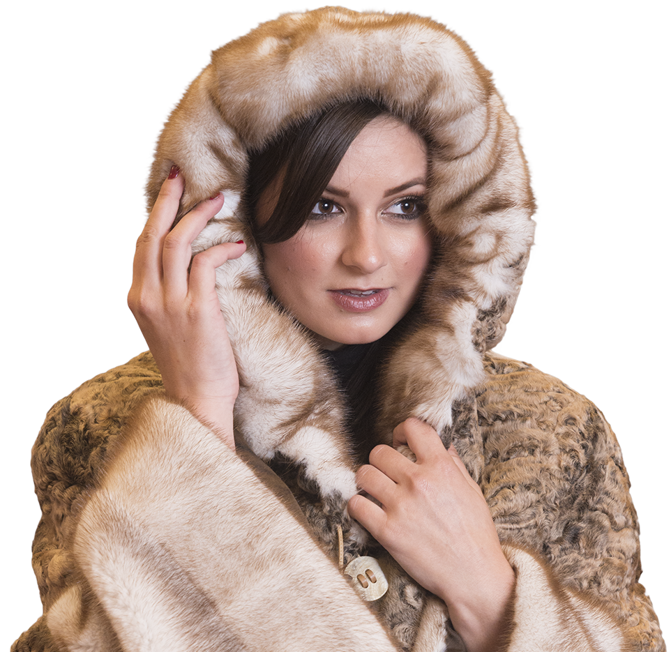 Fur Coat Hooded