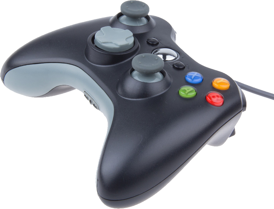Xbox 360 Grey Controller PNG Image