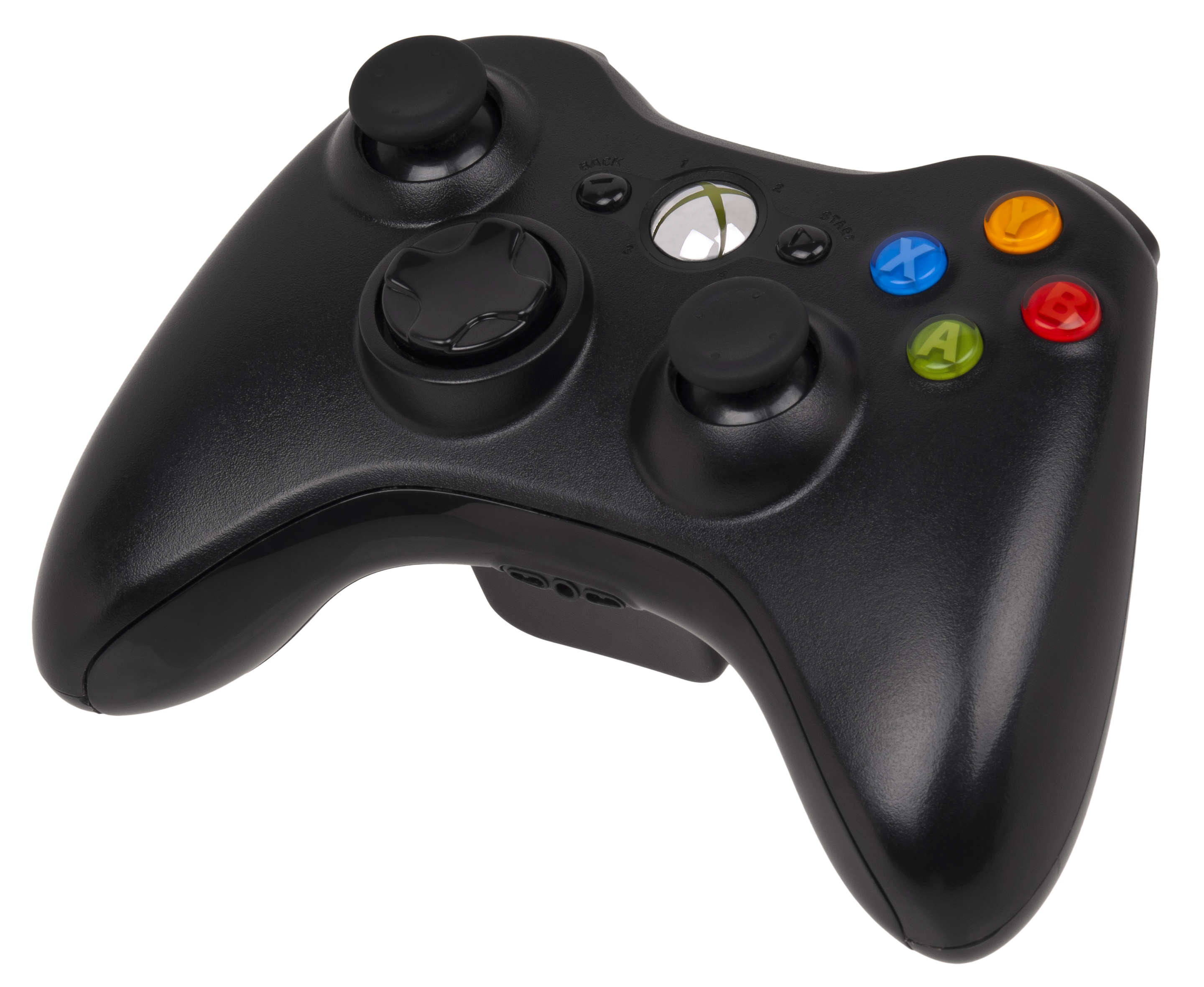 Xbox 360 Controller Classic Black PNG Image