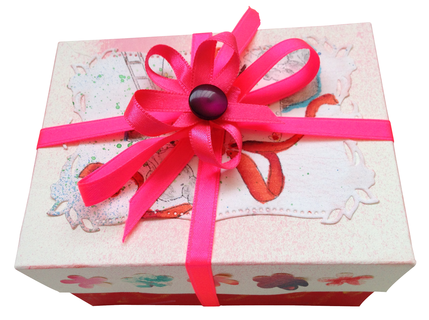 Pink Present  PNG Image