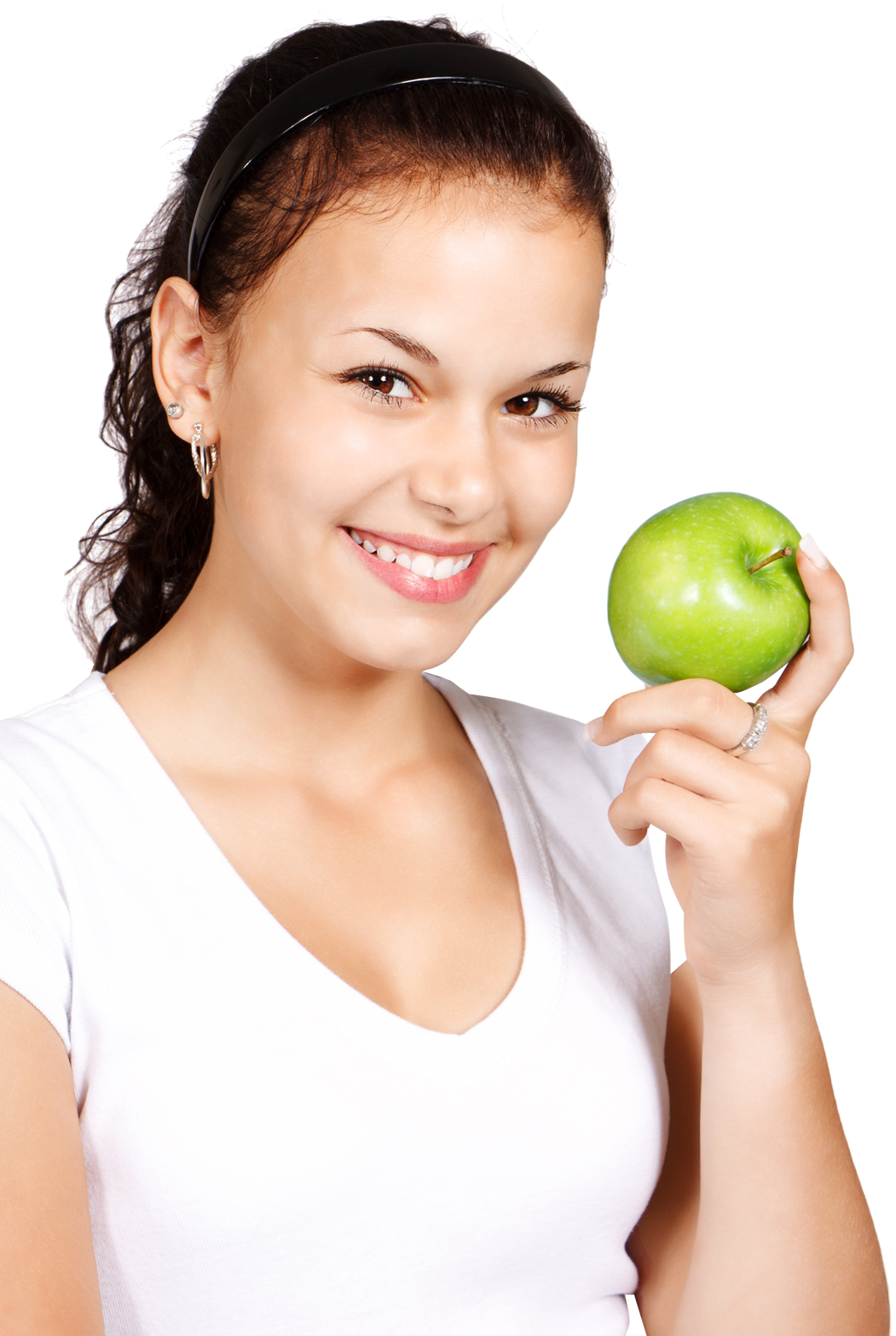 Girl Holding Apple PNG Image