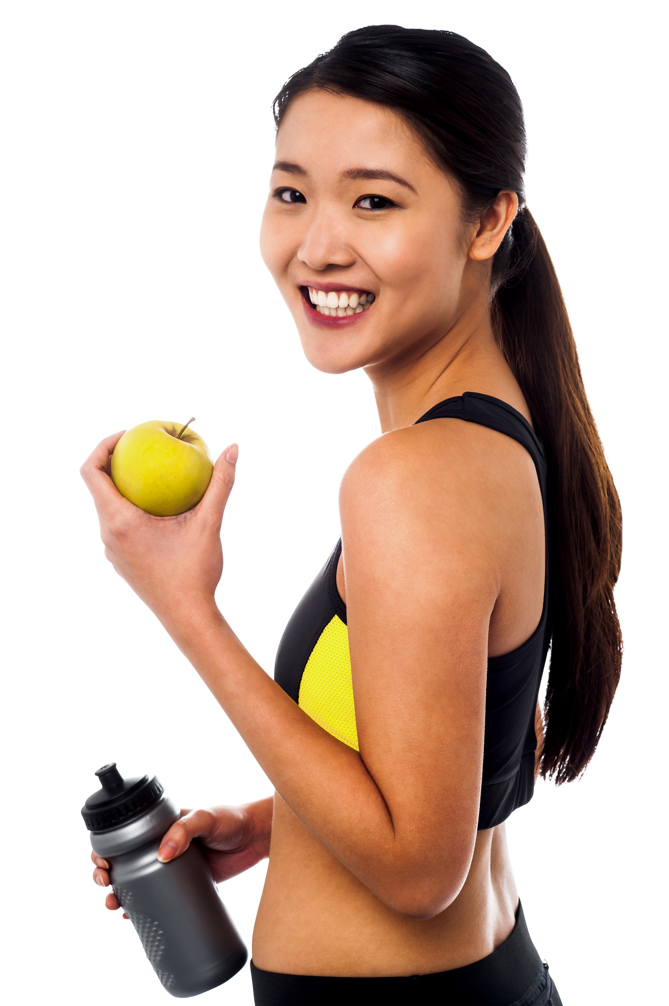 Girl With Fruits PNG Image