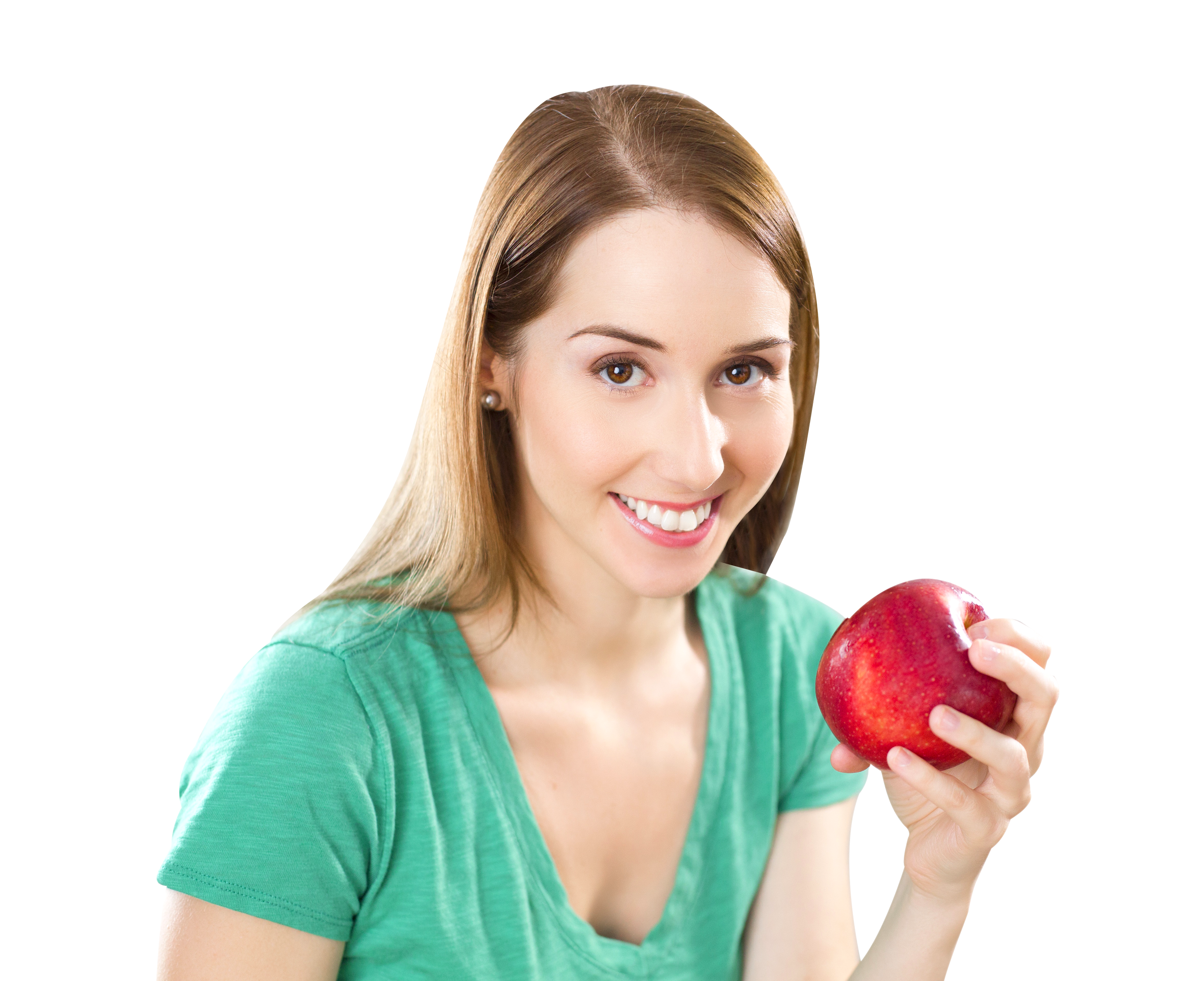 Girl With  Weight Scale PNG Image