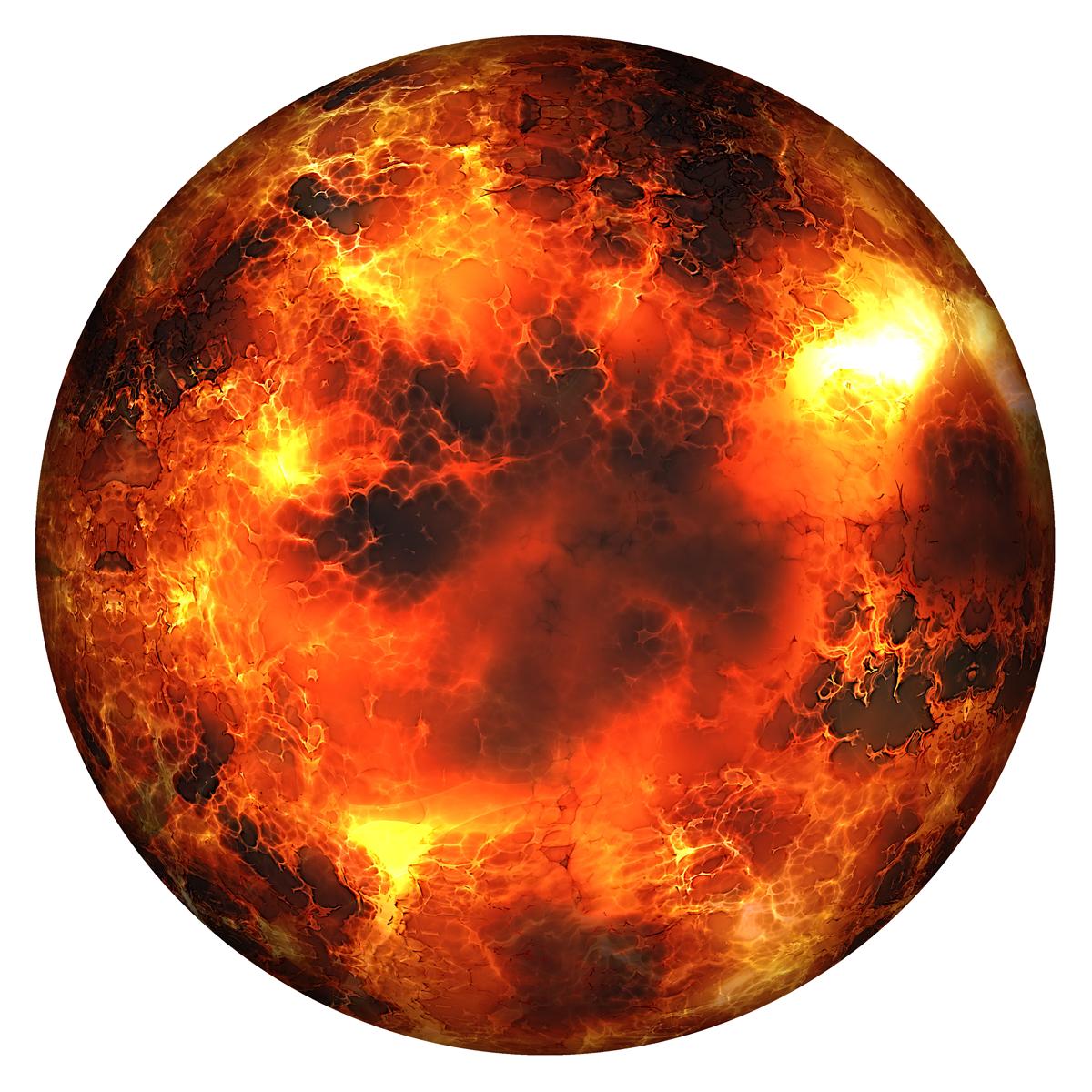 Globe Burning PNG Image