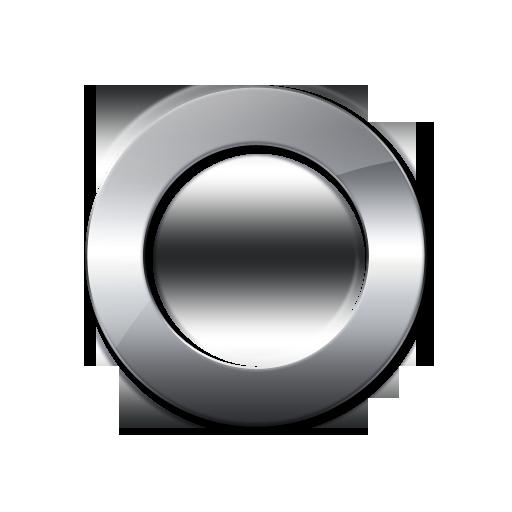 Glossy Silver Symbol
