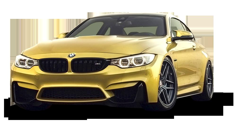 Luxury Vehicle: Gold BMW M4 Car PNG Image - PurePNG