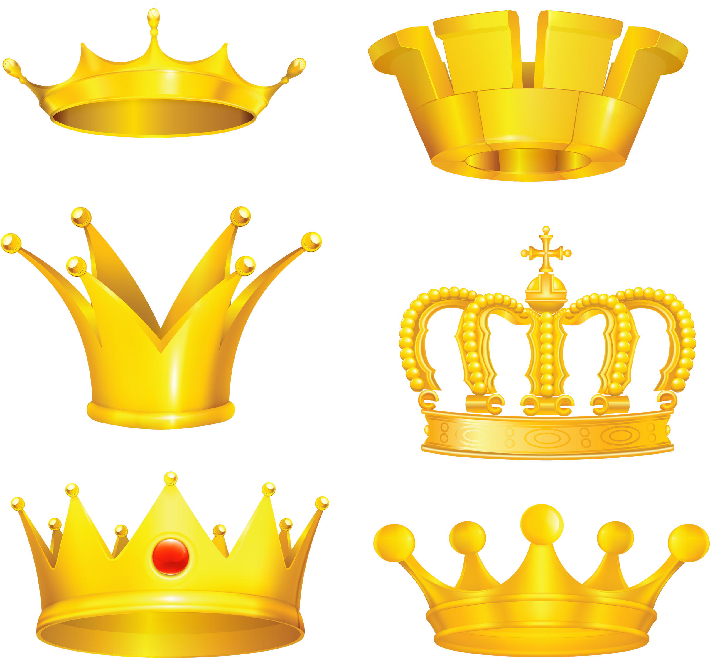 Gold Crown PNG Image