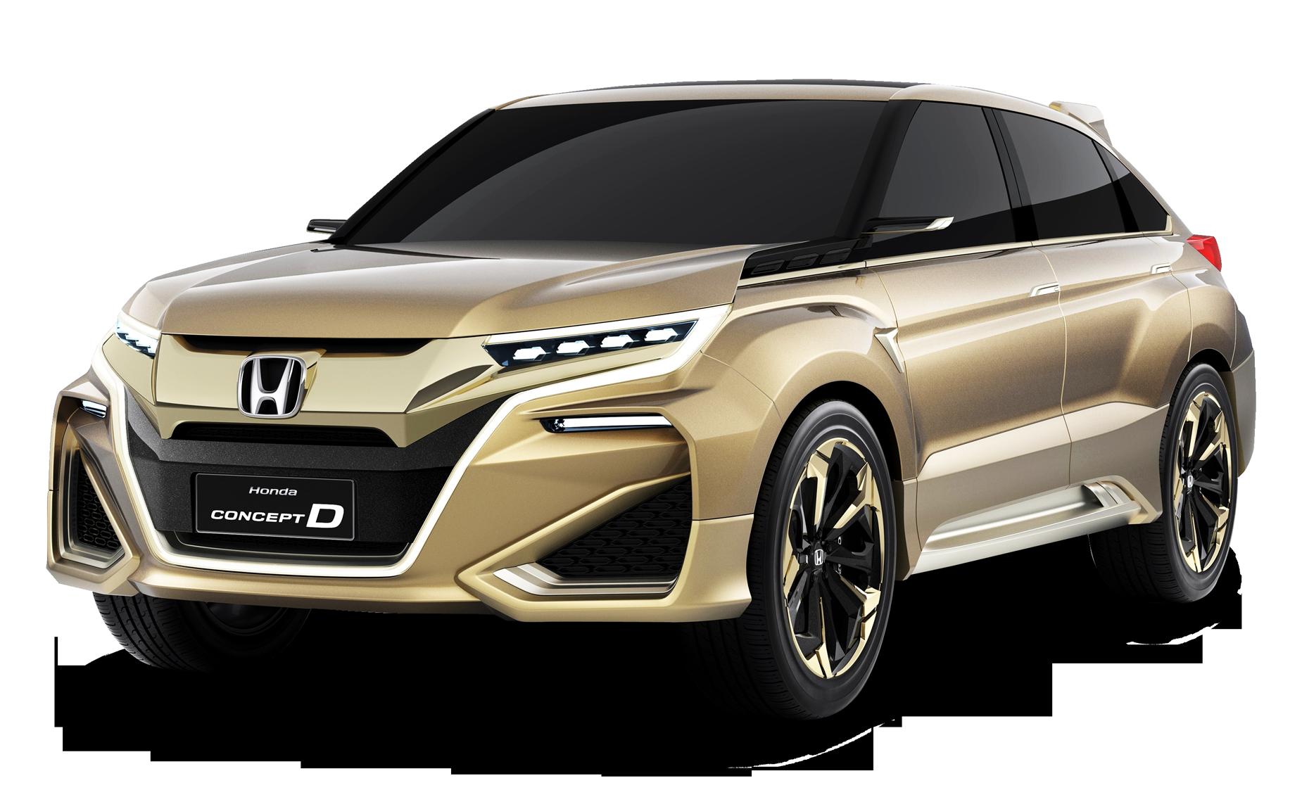 Gold Honda Concept D Car