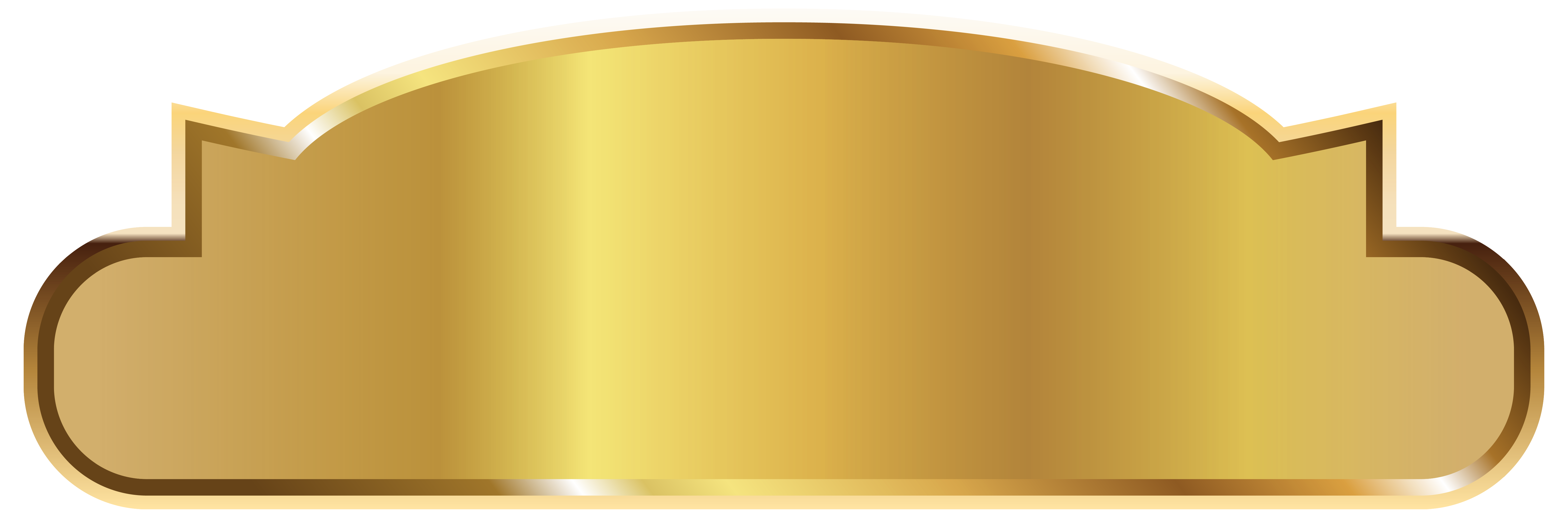 Gold Label Template PNG Image