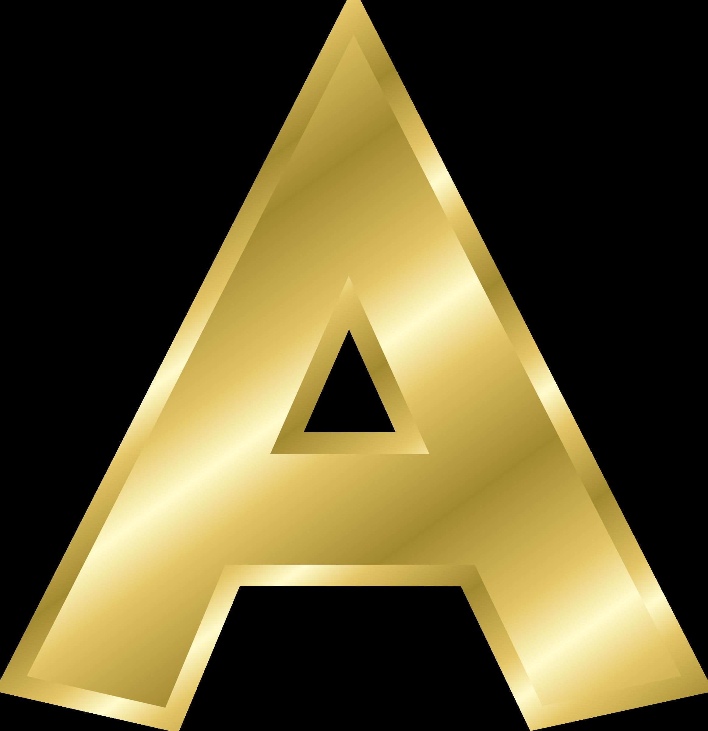 Gold  Letter PNG Image