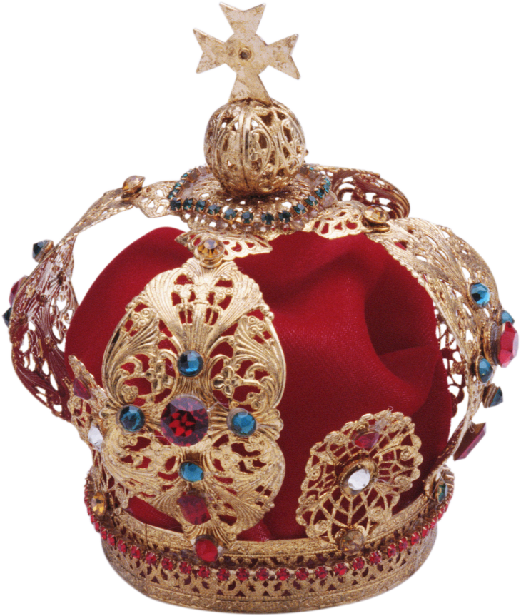 Gold  Red Crown Korona