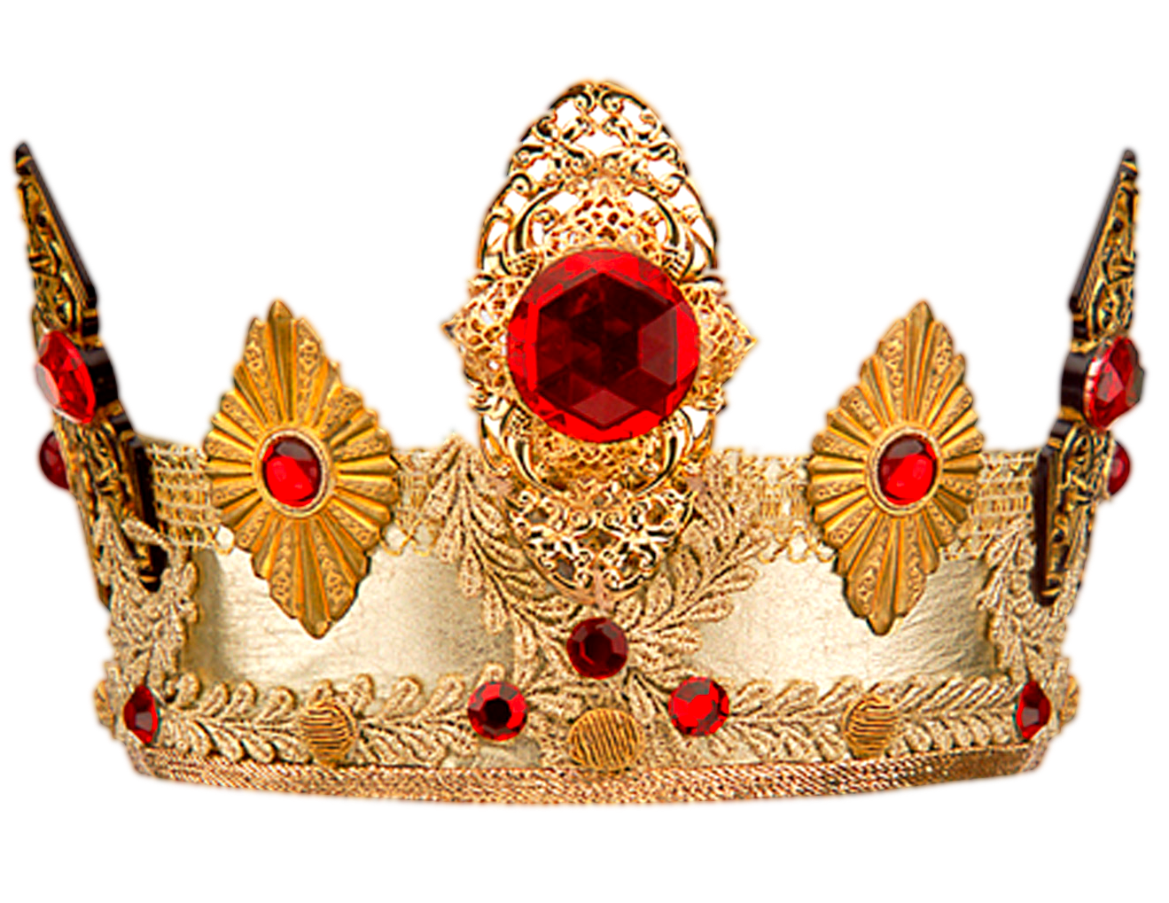 Golden Crown With Stone