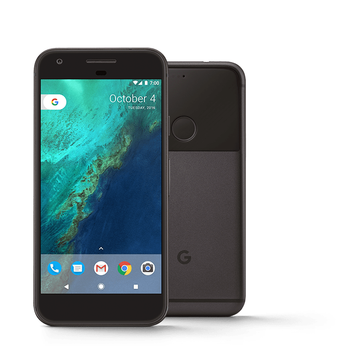 Google Pixel 1 Black PNG Image