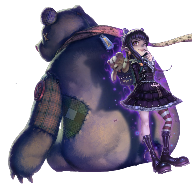 Goth Annie Skin with Tibbers PNG Image