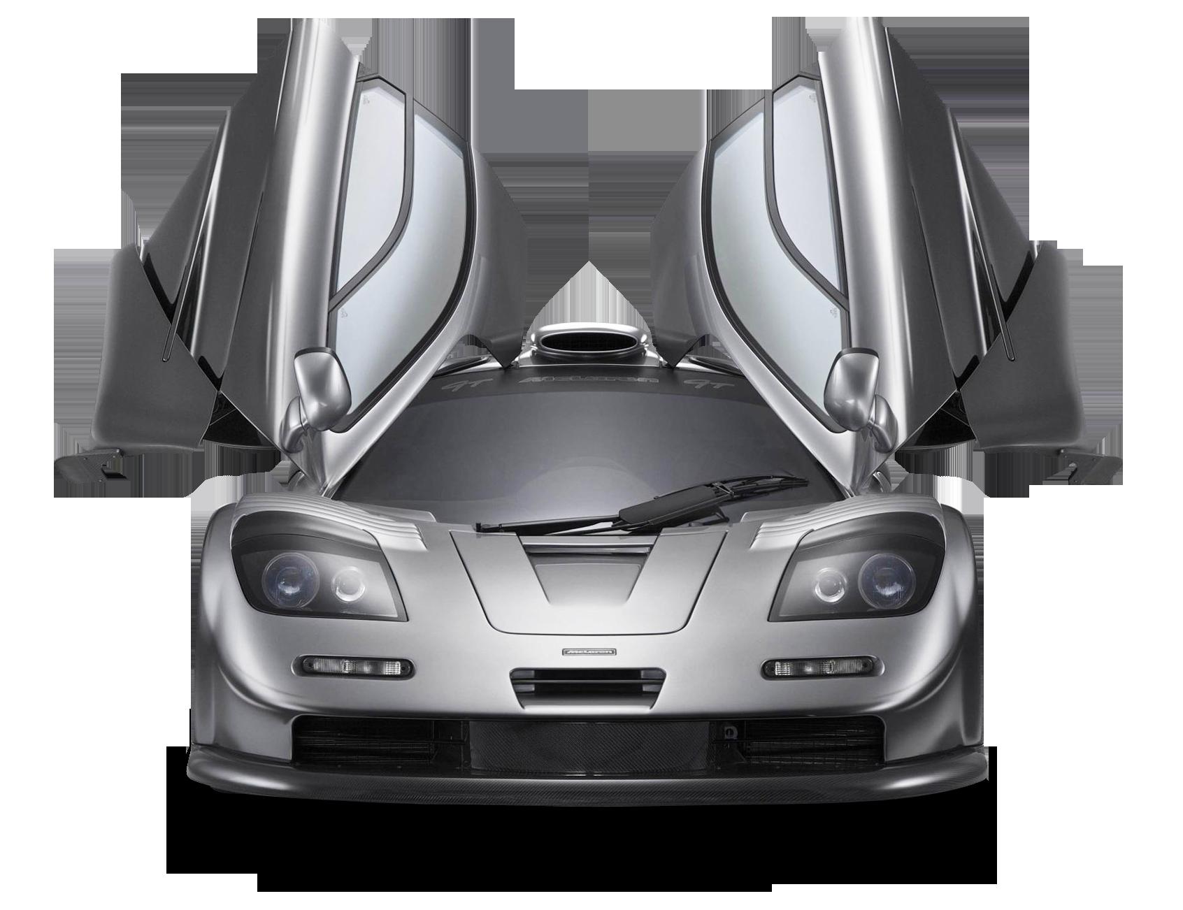 Gray 1997 McLaren F1 GT Car PNG Image
