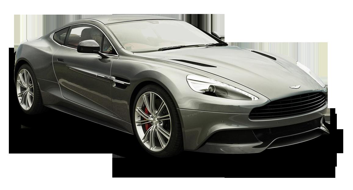 Gray Aston Martin Vanquish Car PNG Image