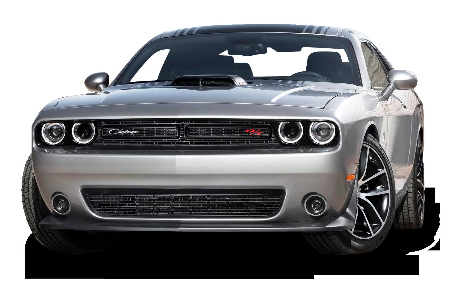 Gray Dodge Challenger Car