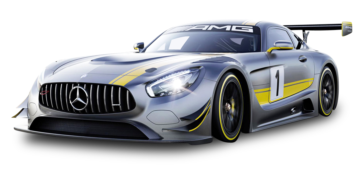 Gray Mercedes Benz Race Car PNG Image