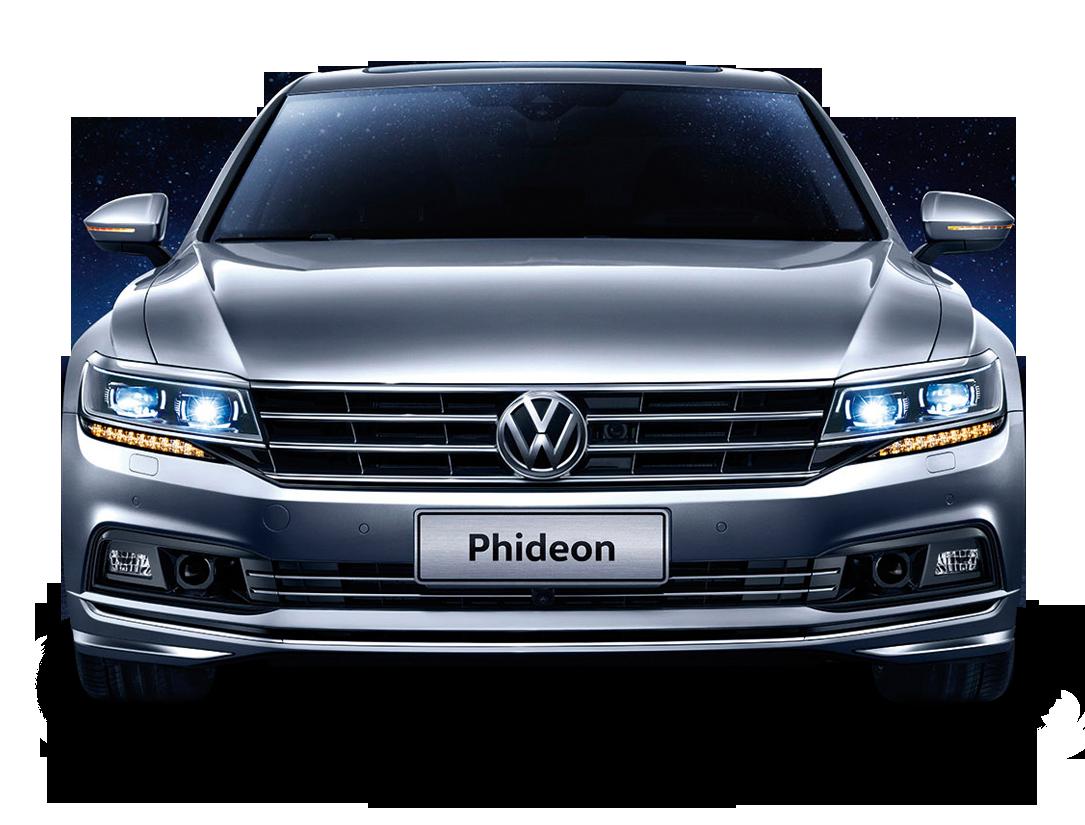 Gray Volkswagen Phideon Front View Car
