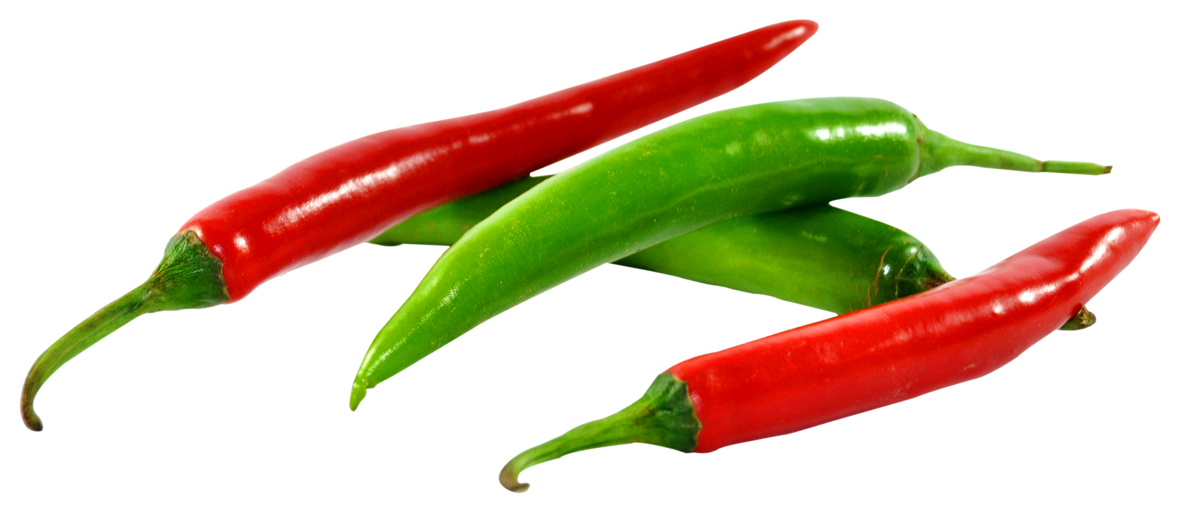 Green and Red Chilli PNG Image