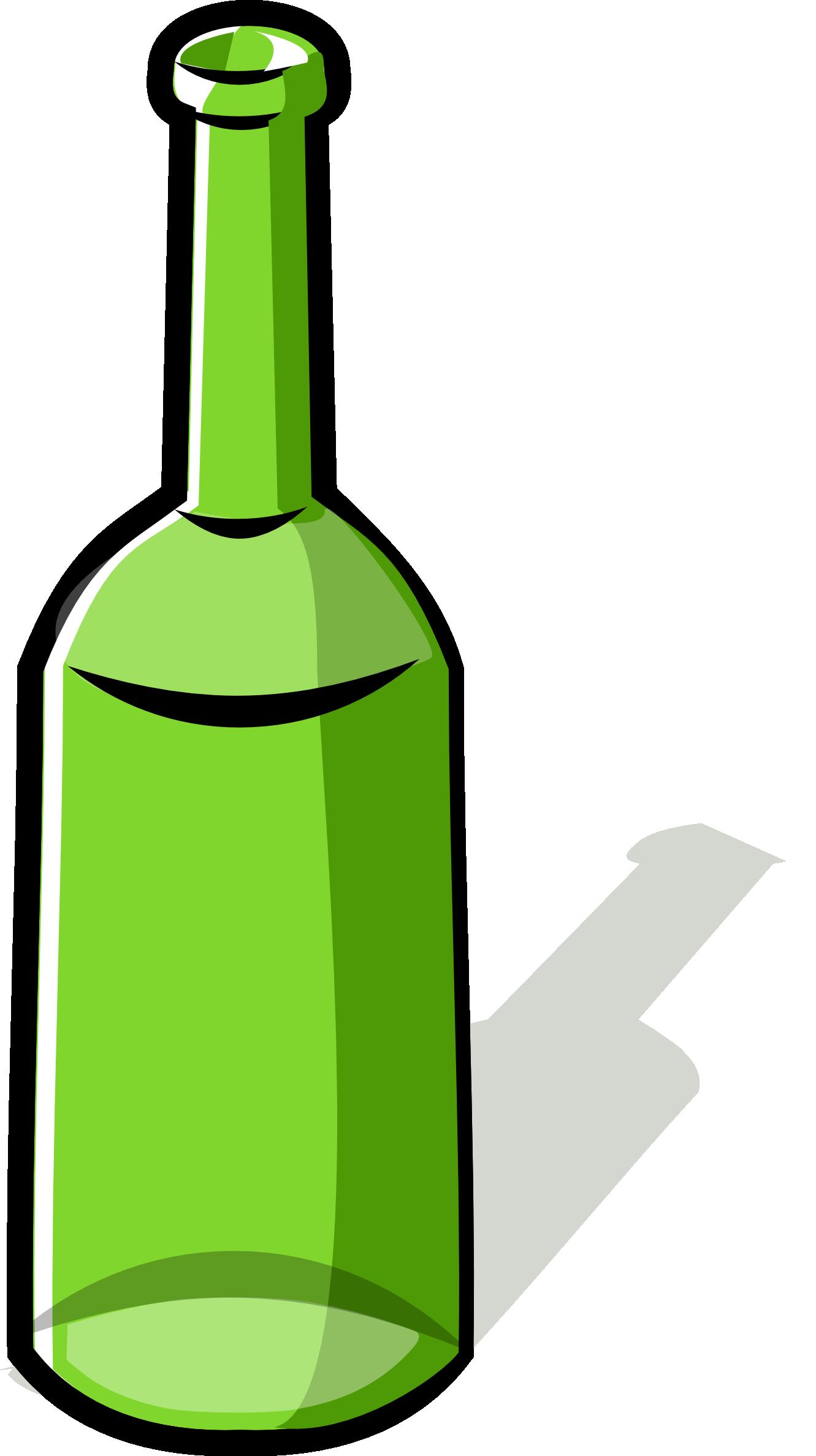 Green Bottle PNG Image