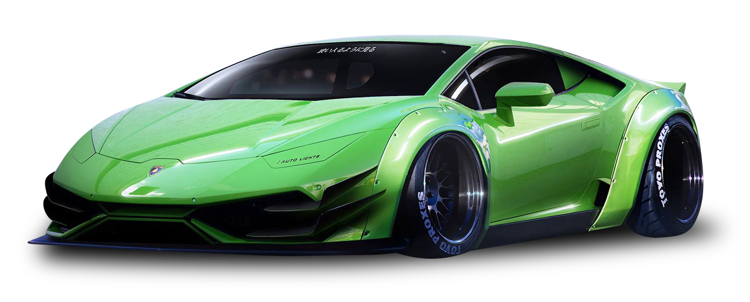 Green Lamborghini Huracan LP640 4 Superleggera Car
