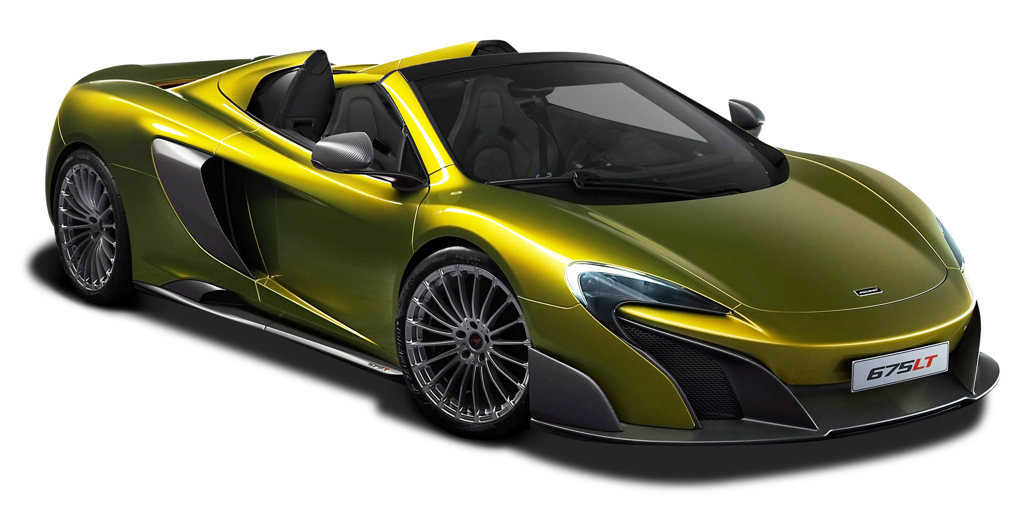 Green McLaren 675LT Spider Super Car